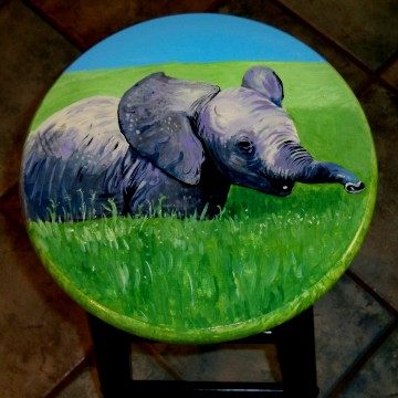 Hand Painted Bar Stools Salada Designs